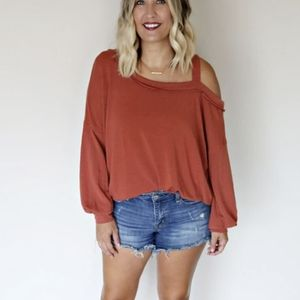 SALE! New Slouchy Cold Shoulder Casual Sweatshirt